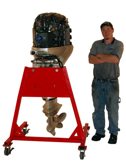 Diy large outboard motor stand diy do it your self for Large outboard motor stand